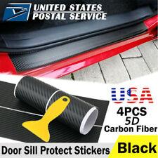 X4 Honda Carbon Fiber Car Door Scuff Sill Cover Panel Step Protector For Honda