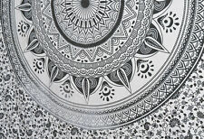 Black and White Ombre Mandala New Wall decor Tapestry Twin Size Bedding Hippie