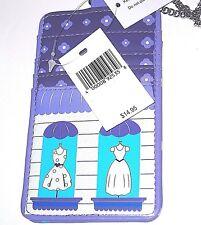 Purple ID Badge Holder Necklace Lanyard 4 Slot Wallet ✿Window Dress Shopping