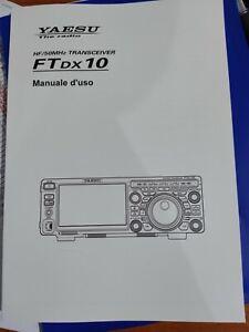 MANUALE IN ITALIANO  istruzioni d'uso per YAESU FTDX10 ORIGINALE