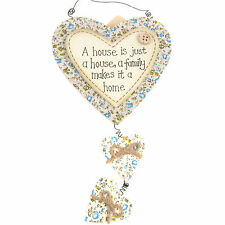 Handcrafted House Hanging Plaque - A house is just a house...
