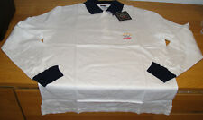 New Paul & Shark unique Long Sleeve Polo shirt White size Large Superb quality!!