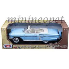 MOTORMAX 73112 1958 CHEVROLET IMPALA CONVERTIBLE 1/18 DIECAST LIGHT BLUE