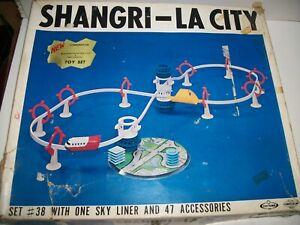 Vintage Tomy F.E. White SHANGRI-LA-CITY Monorail Set #38 Japan Exc Cond & work B
