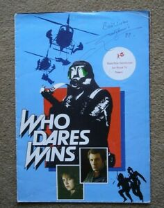 WHO DARES WINS  1982 ORIGINAL SIGNED POSTER  *LEWIS COLLINS*