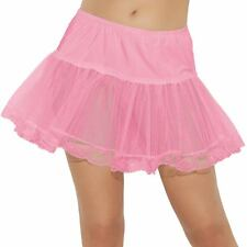 Mini Petticoat Pink Women Plus Lace Trim Crinoline Short Skirt Costume Dance