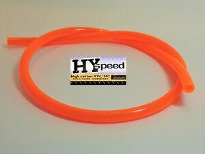 "HYspeed PVC Fuel Gas Line 5/16"" ID X 7/16"" OD 3' Fluorescent Orange Motorcycle"
