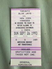 Blue Jays 1993 Ticket Stub