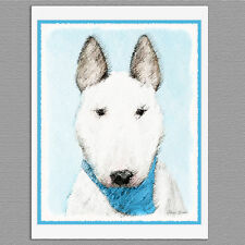 6 Bull Terrier Dog Blank Art Note Greeting Cards