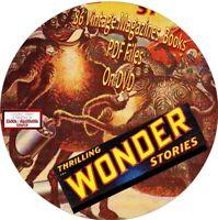 THRILLING WONDER STORIES - VINTAGE MAGAZINES - 86 ISSUES - PDF FILES - ON DVD