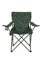 Mountain Warehouse Patterned Folding Chair with Cup Holder Outdoor Furniture