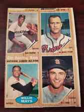 1962 TOPPS BASEBALL WILLIE MAYS  4 CARD UNCUT PANEL AUTHENTIC RARE
