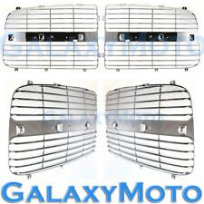 02-05 Dodge RAM 1500+2500+3500 Chrome Grille Replace Grill Trim Insert 1 Set kit