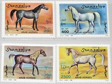 SOMALIA 1996 588-91 Araberpferde Pferde Arab Horses Fauna Tiere Animals MNH