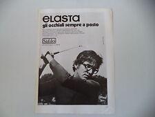 advertising Pubblicità 1972 OCCHIALI SAFILO ELASTA