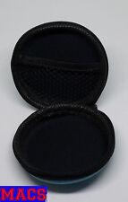 Burger Tasche für USB-Sticks, Ohrhörer und Kleinteile Blau / Blue 80x80x40mm Neu
