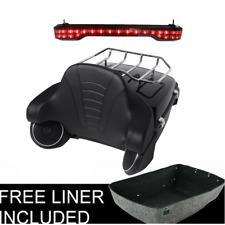 King Tour Pak Trunk Backrest Tail Light W/Speakers For Harley Touring FLHR 14-19