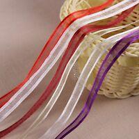 10 Yards 3/8''(10mm) organza ribbons wholesale gift wrapping decoration ribbon