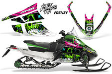 AMR Racing Sled Wrap Arctic Cat F Series Snowmobile Graphic Decal Kit FRENZY GRN