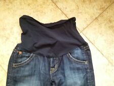 Sz 26 Hudson Womens Maternity Jeans Dark Blue Boot Cut Tri Flap pocket ELM wash