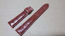 20mm/16mm Genuine Red Brown Alligator Crocodile Leather Skin Watch Strap Band