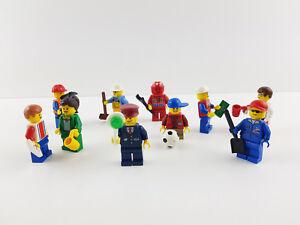 Lego® City 10 Figuren Minifiguren mit Kopfbedeckung und Zubehör bunte Mischung