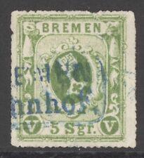 Bremen Mi. Nr. 9b gest. geprüft Fischer BPP 300 Euro