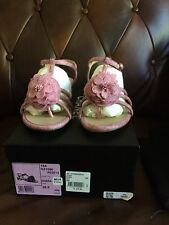 Brand new Chanel pink camellia sandals size 8.5 on sale