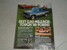 1980 FORD PICKUP. COURIER article / ad