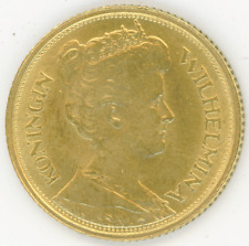 Netherlands 5 Gulden 1912 QUEEN WILHELMINA I Brilliant Uncirculated+ gold