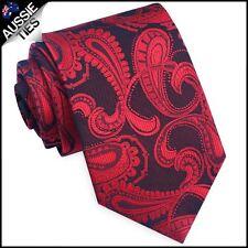 Black & Red Paisley Mens Tie Men's Necktie