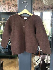 LA COQUETA Brown Wool Cardigan Age 6