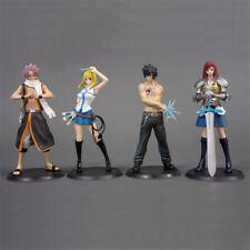 4pcs Anime Fairy Tail Natsu Dragneel Gray Lucy Erza 13CM PVC Figure Toy No Box F