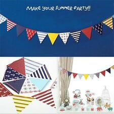 Navy Triangular flag Bunting Pennant Flags Birthday Baby Shower Party Decoration