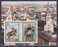 Fujeira 1972 ** Bl.109 B Olympische Spiele Olympic Games Pferd Horse München