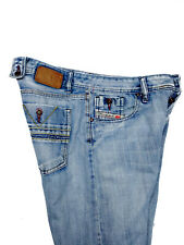 Diesel Mens Cardiel Blue Jeans Straight Mid Rise Button Fly Light Size 32x31