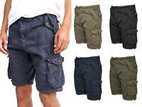 Mens Knee Length Cargo Utility Pocket Shorts Summer Hiking Cotton TwillPants