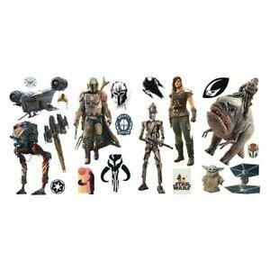 Star Wars The Mandalorian Peel & Stick Wall Decals Kids Room Decor 20 Stickers