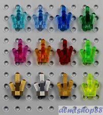 LEGO - 12x Lot Crystals 5 Point Stone Rock - Treasure Gems Jewels Diamond Facet