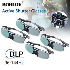 4x 3D DLP-Link 96-144Hz Active Shutter Glasses Rechargeable 8M For BenQ Optoma