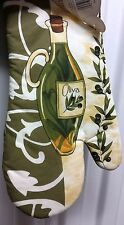 """RARE Fabric Printed Kitchen 13"""" Oven Mitt, OLIVE OIL BOTTLE by Better Home"""