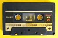 MC Musicassetta MAXELL XLII 60 xl II chrome vintage compact cassette tape USATA