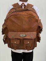 16 Inch Men's Leather Backpack Bag Satchel Briefcase Laptop Vintage (X Large)