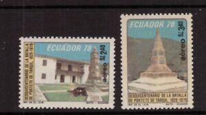 Ecuador MNH 1979 Battle of Portete and Tarqui set mint stamps