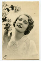 1930s Glamor Glamour PRETTY LADY Woman Belgian photo postcard