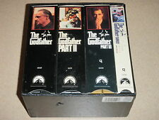 Lot of 7 VHS Videos THE GODFATHER COLLECTOR'S EDITION