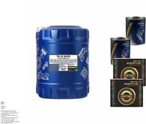 MANNOL 10L TS-18 15W-40 CK-4 motor oil Api CK-4/Sn Acea E7/E9 Incl. Additive