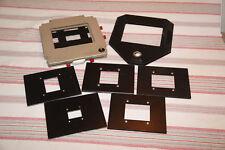 DeVere 504 Universal Negative Carrier Darkroom Enlarger Large Format + 6 MASKS