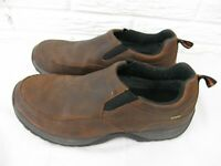 Cabela's Men's Slip On Shoes Size 11 D Mocs DRY-PLUS Leather Shoe