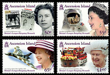 Ascension 2015 Longest Reigning Monarch 4v set MNH